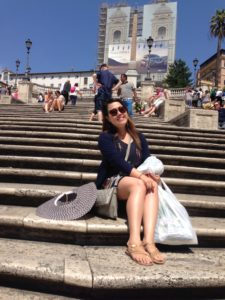 At the Spanish Steps